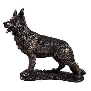 Large Bronze German Shepherd Sculpture