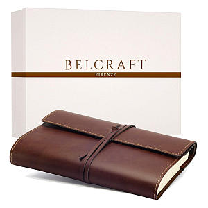 Large Recycled Leather Bound Journal