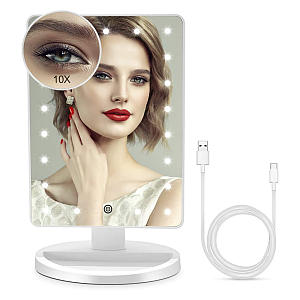 Lighted Makeup Table Mirror
