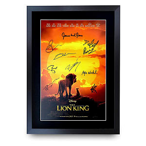 Lion King Signed Movie Poster