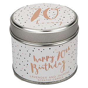 Luxe 70th Birthday Scented Candle