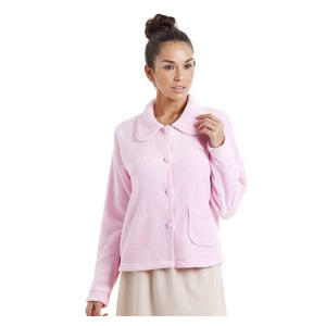 Luxury Soft Button and Zip Bed Jacket