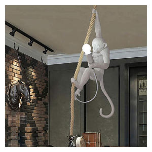 Monkey Hemp Rope Ceiling Lamp
