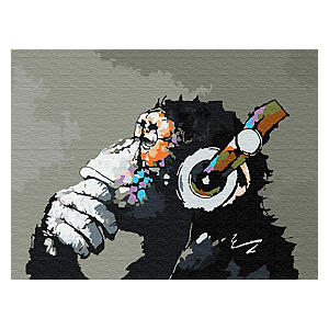 Monkey Paint By Number Kit