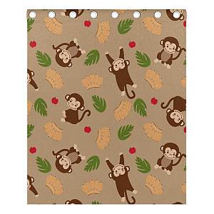 Monkey With Banana Curtains
