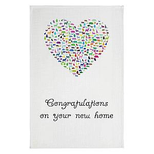 New Home Heart Tea Towel