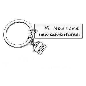 New Home New Adventures Keychain
