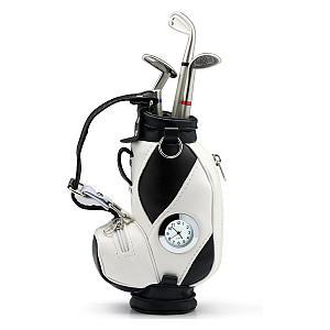 Novelty Golf Bag Pen Holder And Clock