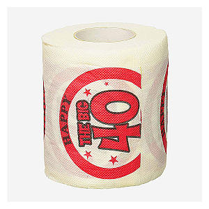 Novelty The Big 40 Toilet Paper