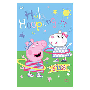 Peppa Pig Hula Hooping Fleece Blanket