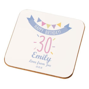 Personalised 30th Name Coaster
