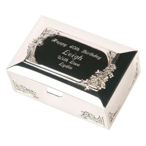 Personalised 60th Trinket Box