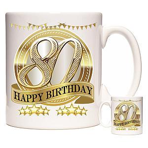 Personalised 80th Birthday Mug