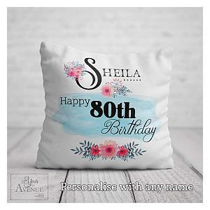 Personalised 80th Cushion