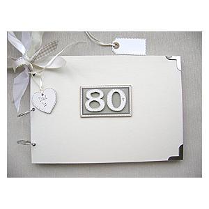 Personalised 80th Photo Album
