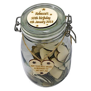 Personalised 80th Wish Jar