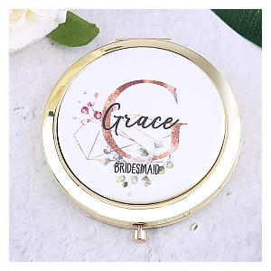 Personalised Bridesmaid Compact Mirror