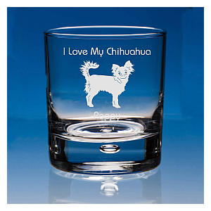 Personalised Chihuahua Whisky Glass
