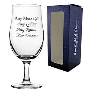 Personalised Engraved Stemmed Pint Glass