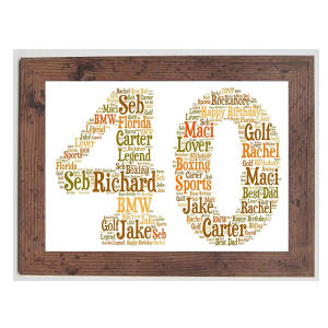 Personalised Framed Age Word Art