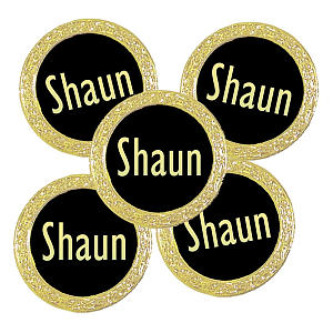 Personalised Gold Ball Markers