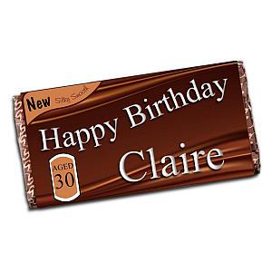 Personalised Happy Birthday 110g Milk Chocolate Bar
