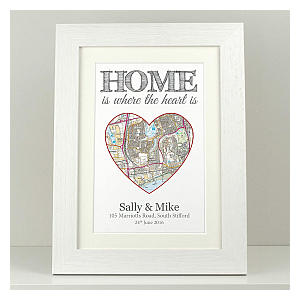 Personalised Map Housewarming Print