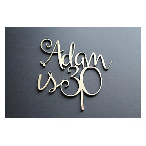 Personalised Name And Age Cake Topper