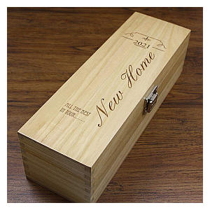 Personalised New Home Wine or Champagne Box