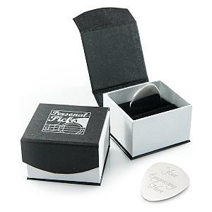 Personalised Silver Guitar Plectrum