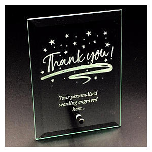 Personalised Thank You Glass Plaque