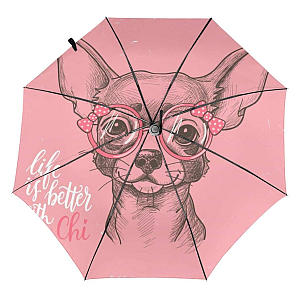Pink Chihuahua Dog Umbrella