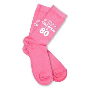 Pink Funny 80th Socks