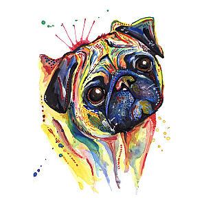 Pug Art Print Painting