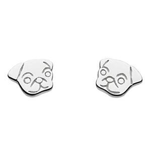 Pug Face Stud Earrings