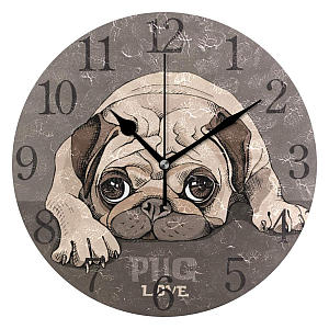 Pug Modern Wall Clock