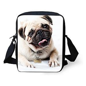 Pug Shoulder Handbag