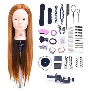 Real Human Hair Training Head
