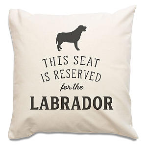 Reserved For Labrador Cushion