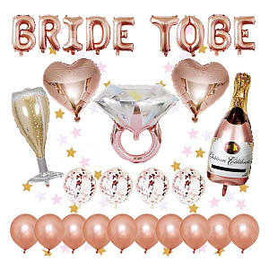 Rose Gold Hen Party Decoration Pack