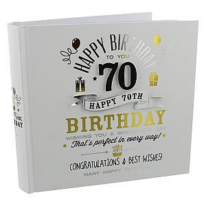 Signography 70th Birthday Photo Album