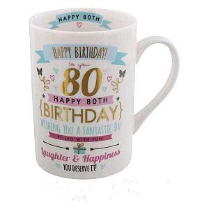 Signography 80th Birthday Pink And Gold Mug