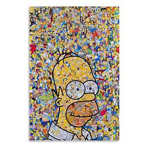 Simpson Color Art Painting Canvas