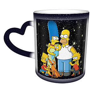 Simpsons Heat Sensitive Colour Changing Mug