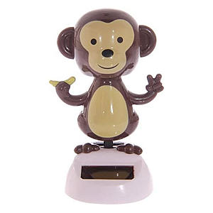 Solar Powered Dancing Monkey Ornament