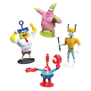 SpongeBob Squarepants 4 Figure Heroes Set