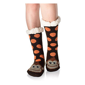 Super Soft Monkey Fleece Socks