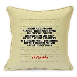The Beatles Lyric Pillow