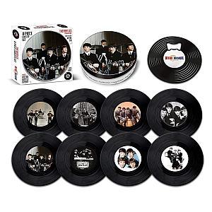 The Beatles Vinyl Coaster Set