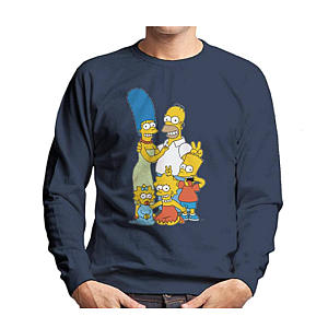 The Simpsons Silly Photo Men's Sweatshirt
